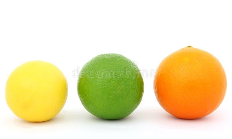 ζωηρόχρωμο πορτοκάλι ασβέστη λεμονιών καρπού στοκ εικόνες με δικαίωμα ελεύθερης χρήσης