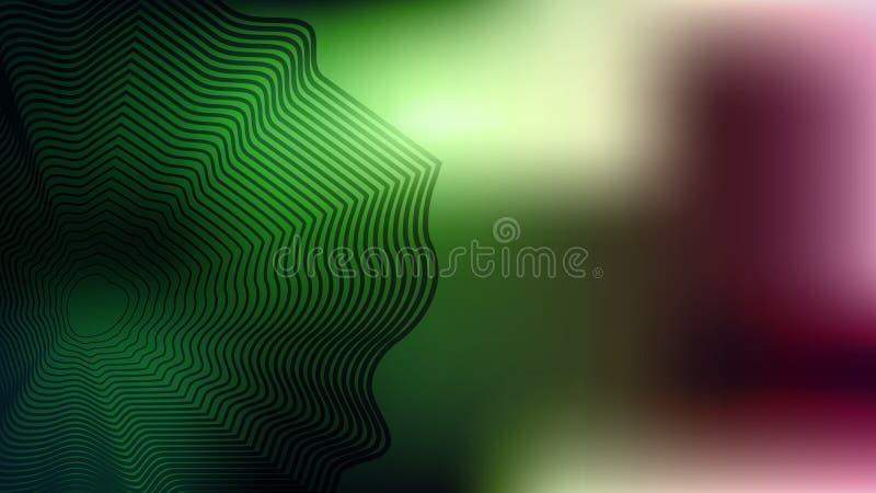 Ζωηρόχρωμο πράσινο θολωμένο υπόβαθρο με το γδυμένο στοιχείο Σύγχρονη αφηρημένη κάρτα κλίσης απεικόνιση αποθεμάτων