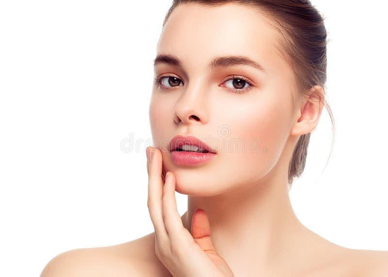 Ζωηρόχρωμο πρόσωπο γυναικών σύνθεσης, όμορφα θερινά makeup WI brunette στοκ φωτογραφίες με δικαίωμα ελεύθερης χρήσης
