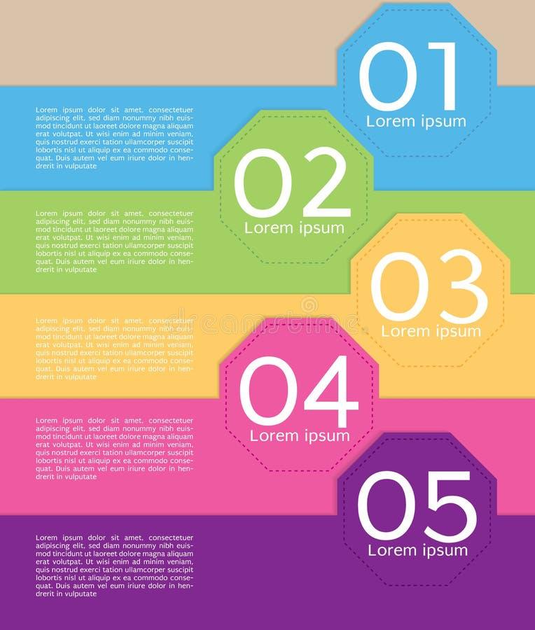 Ζωηρόχρωμο πρότυπο εμβλημάτων οκταγώνων. διανυσματική απεικόνιση