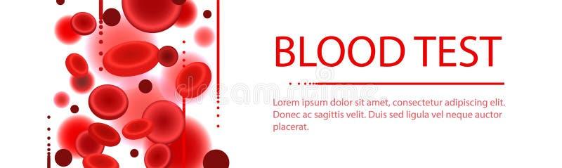 Ζωηρόχρωμο πρότυπο ιατρικών εξετάσεων αίματος διανυσματική απεικόνιση