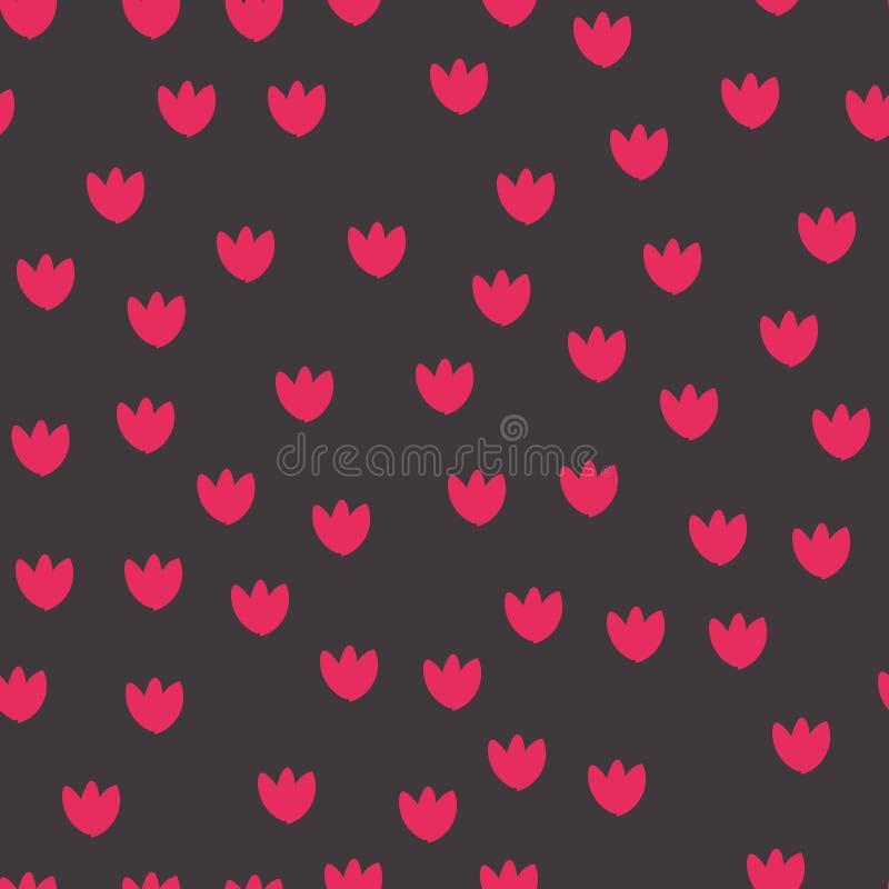 ζωηρόχρωμο πρότυπο λουλ&om διάνυσμα ελεύθερη απεικόνιση δικαιώματος