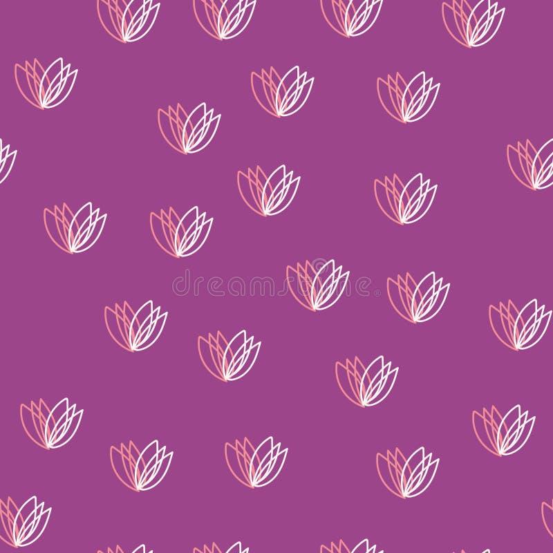 ζωηρόχρωμο πρότυπο λουλ&om διάνυσμα απεικόνιση αποθεμάτων
