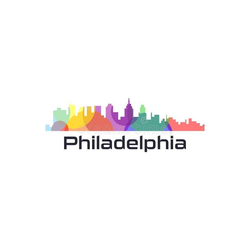 Ζωηρόχρωμο πόλης διάνυσμα των ΗΠΑ διανυσματική απεικόνιση