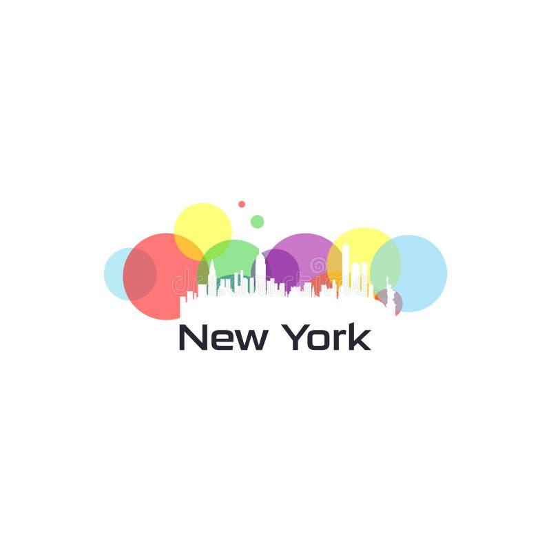 Ζωηρόχρωμο πόλης διάνυσμα των ΗΠΑ ελεύθερη απεικόνιση δικαιώματος