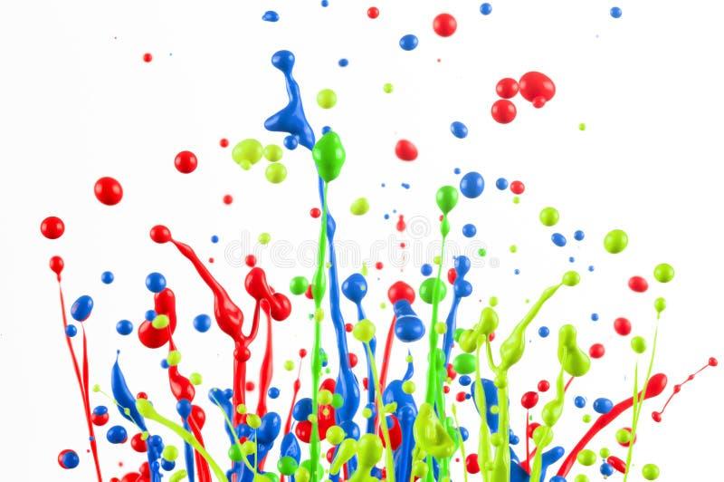 Ζωηρόχρωμο ράντισμα χρωμάτων στοκ φωτογραφίες με δικαίωμα ελεύθερης χρήσης