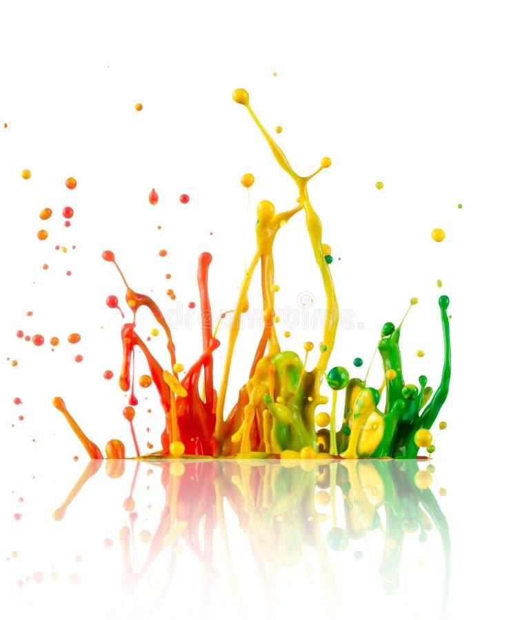 Ζωηρόχρωμο ράντισμα χρωμάτων στοκ εικόνες