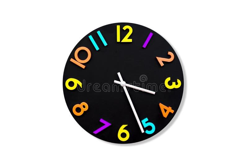Ζωηρόχρωμο ρολόι τοίχων στο άσπρο υπόβαθρο ελεύθερη απεικόνιση δικαιώματος