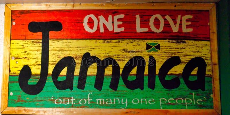 Ζωηρόχρωμο σημάδι ενθύμησης Jamacia στοκ εικόνα