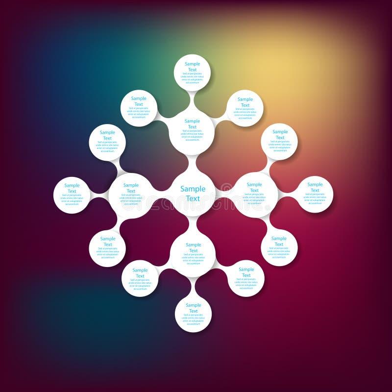Ζωηρόχρωμο στρογγυλό infographics διαγραμμάτων Metaball διανυσματική απεικόνιση