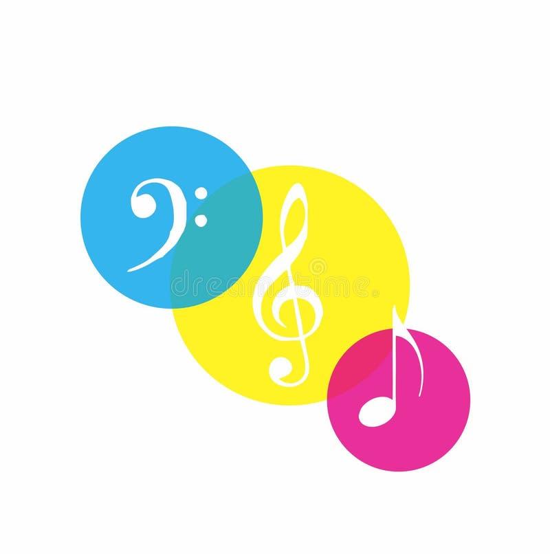 ζωηρόχρωμο σχέδιο μουσικής στοκ εικόνες με δικαίωμα ελεύθερης χρήσης