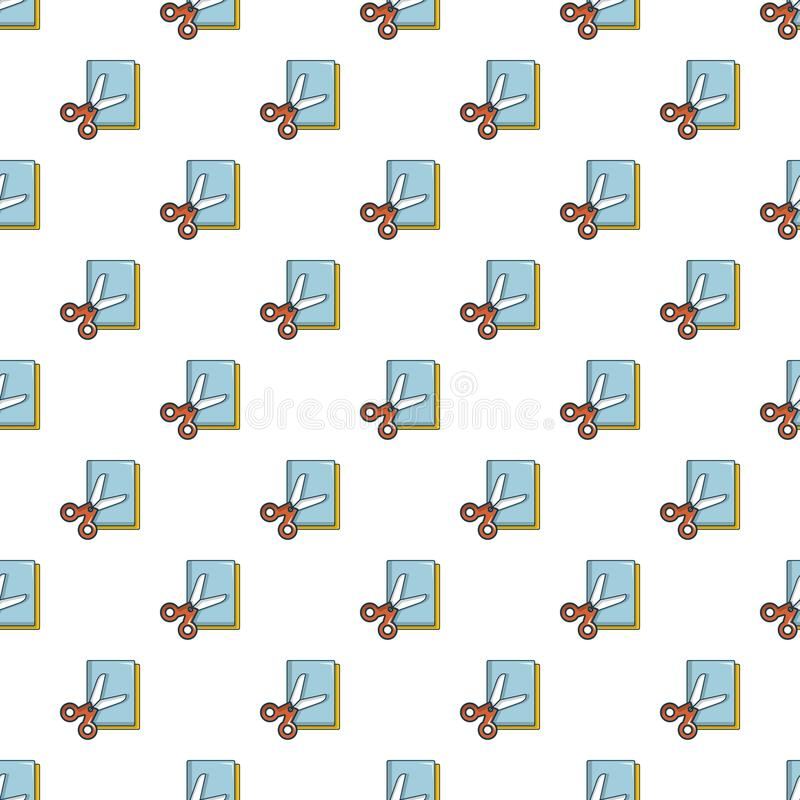 Ζωηρόχρωμο σχέδιο ψαλιδιού εγγράφου άνευ ραφής απεικόνιση αποθεμάτων