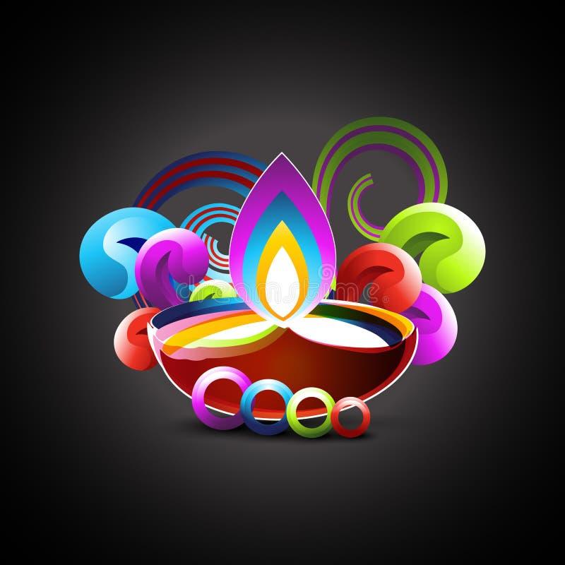 Ζωηρόχρωμο σχέδιο diwali ελεύθερη απεικόνιση δικαιώματος
