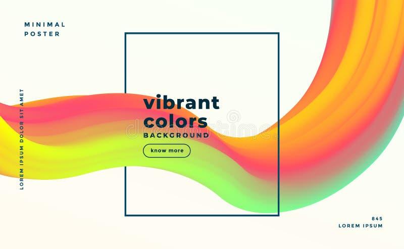 Ζωηρόχρωμο σύγχρονο αφηρημένο υγρό ρευστό υπόβαθρο μορφών διανυσματική απεικόνιση