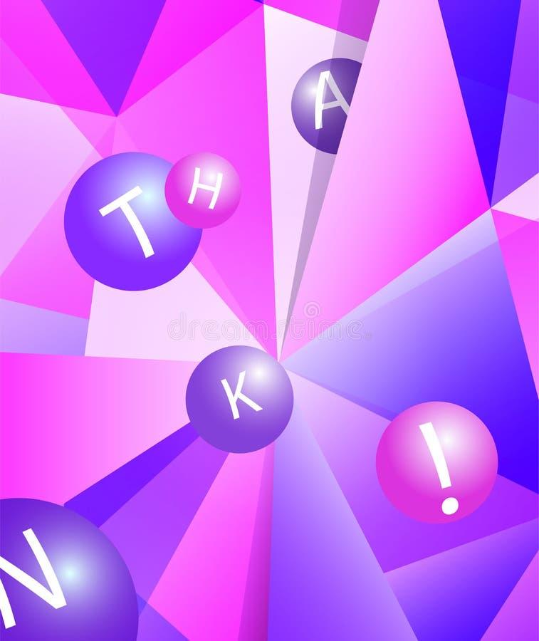 Ζωηρόχρωμο σύγχρονο γεωμετρικό αφηρημένο σχέδιο ή μωσαϊκό στα καθιερώνοντα τη μόδα φωτεινά πορφυρά ιώδη χρώματα Όμορφο ρόδινο μπλ διανυσματική απεικόνιση