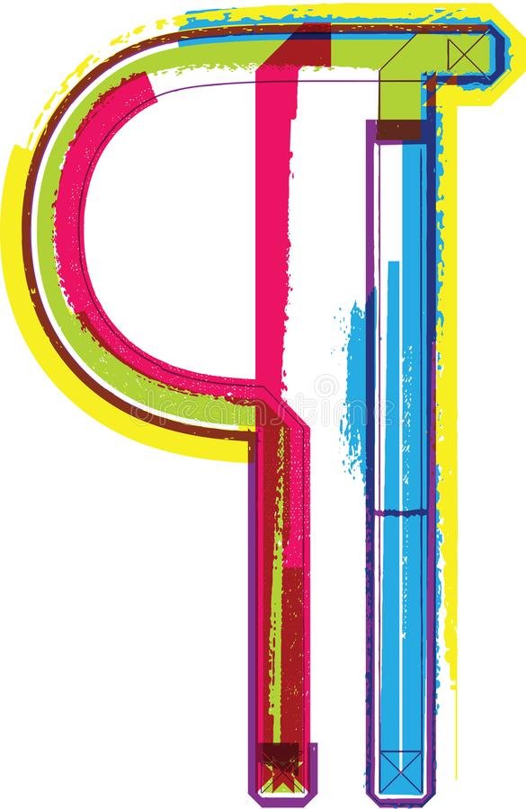 Ζωηρόχρωμο σύμβολο Grunge απεικόνιση αποθεμάτων