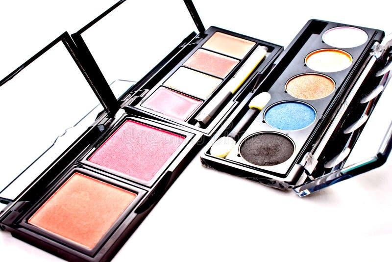 ζωηρόχρωμο σύνολο makeup στοκ εικόνα
