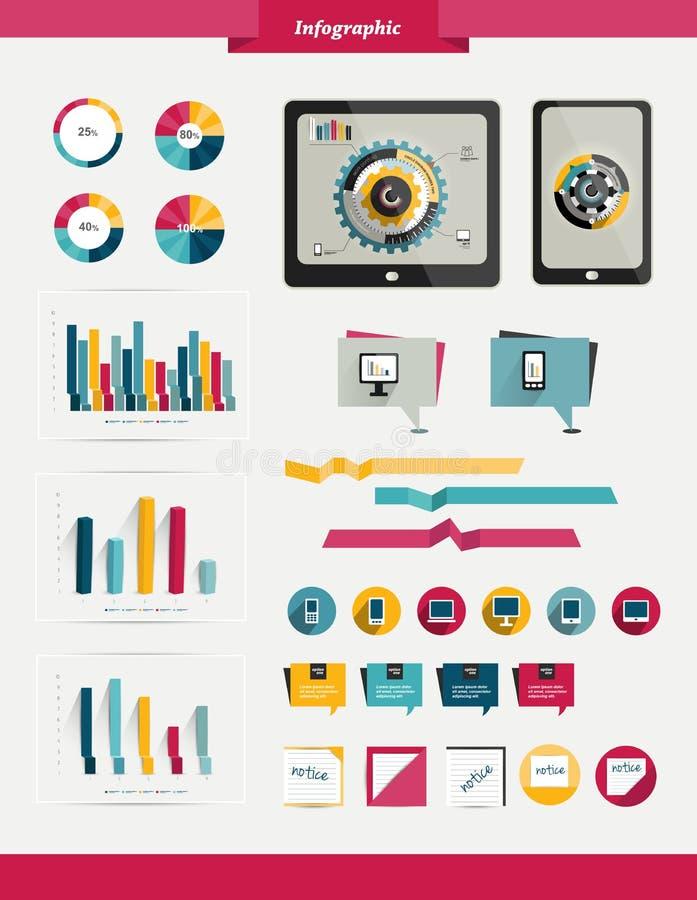 Ζωηρόχρωμο σύνολο infographic. διανυσματική απεικόνιση