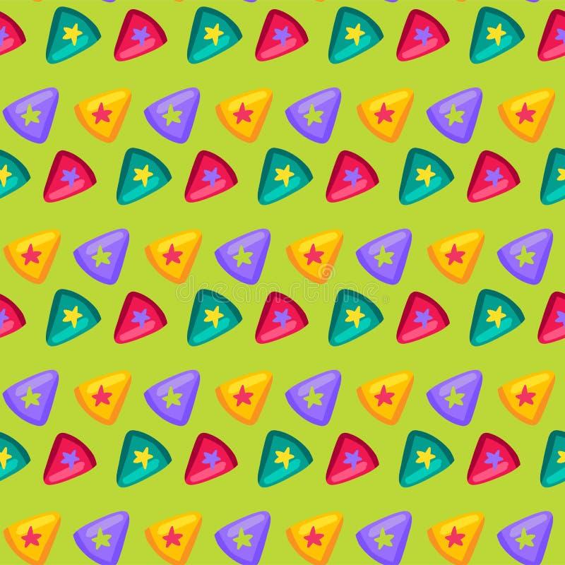 Ζωηρόχρωμο τρίγωνο με το αστέρι μέσα στο επίπεδο σχέδιο απεικόνιση αποθεμάτων