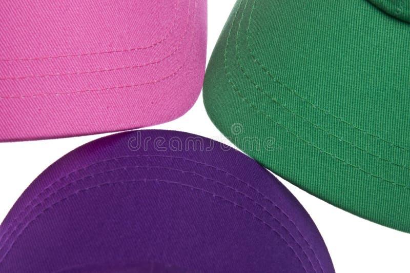 ζωηρόχρωμο τρίο καπέλων το στοκ εικόνα