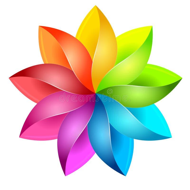 Ζωηρόχρωμο τρισδιάστατο pinwheel διανυσματική απεικόνιση
