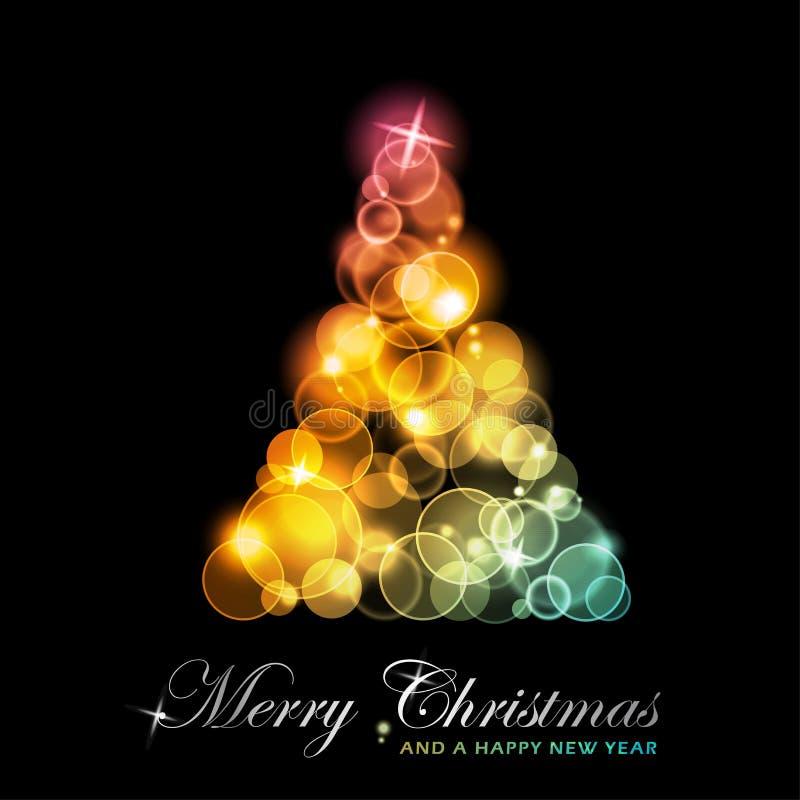 Ζωηρόχρωμο τυποποιημένο χριστουγεννιάτικο δέντρο ελεύθερη απεικόνιση δικαιώματος