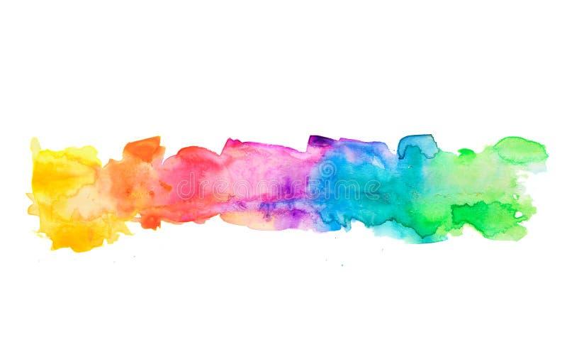Ζωηρόχρωμο υπόβαθρο ζωγραφικής watercolor κρητιδογραφιών ελεύθερη απεικόνιση δικαιώματος
