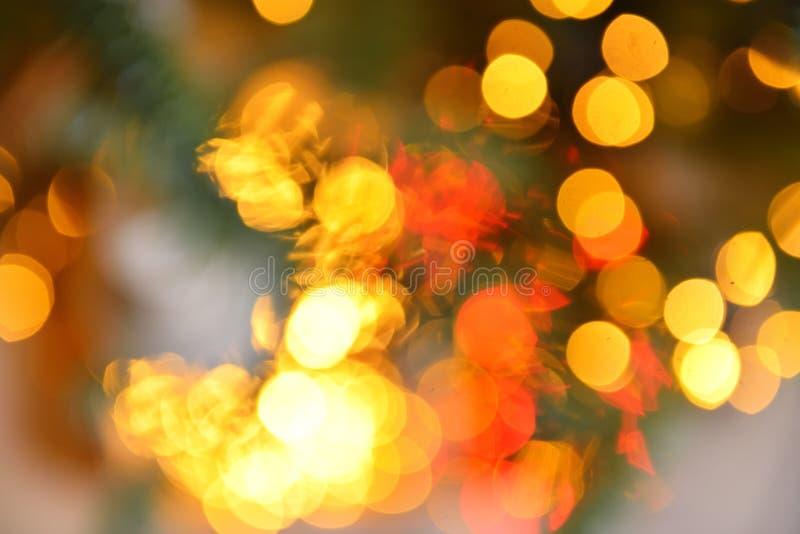 Ζωηρόχρωμο υπόβαθρο θαμπάδων φω'των χρώματος bokeh, Chrismas στοκ φωτογραφία
