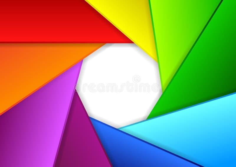 Ζωηρόχρωμο υπόβαθρο σε μια μορφή του παραθυρόφυλλου καμερών διανυσματική απεικόνιση