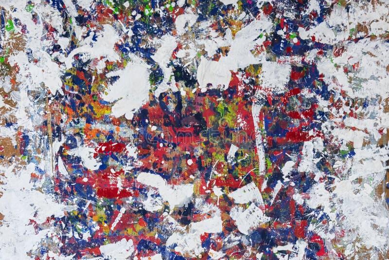 Ζωηρόχρωμο υπόβαθρο σκηνικού Το ατημέλητο χρώμα της εργασίας για το α διανυσματική απεικόνιση