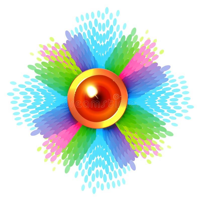 Ζωηρόχρωμο υπόβαθρο του diwali απεικόνιση αποθεμάτων