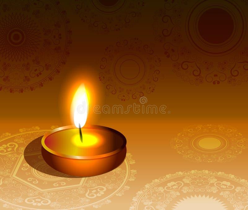 Ζωηρόχρωμο υπόβαθρο φεστιβάλ diwali Rangoli ελεύθερη απεικόνιση δικαιώματος