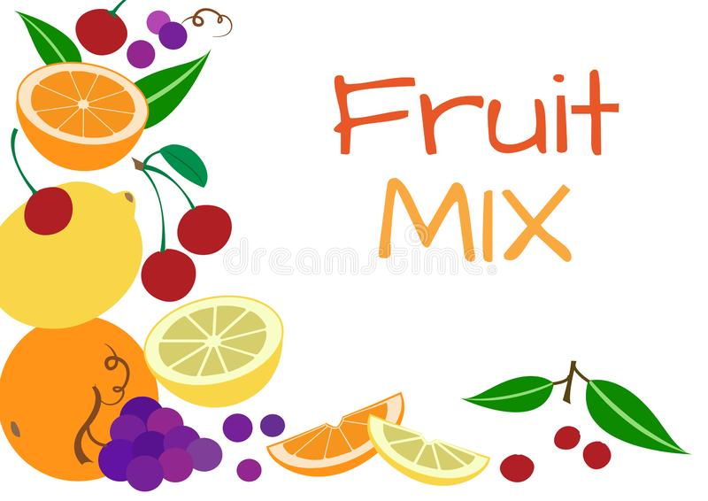Ζωηρόχρωμο υπόβαθρο φρούτων, διάνυσμα απεικόνιση αποθεμάτων