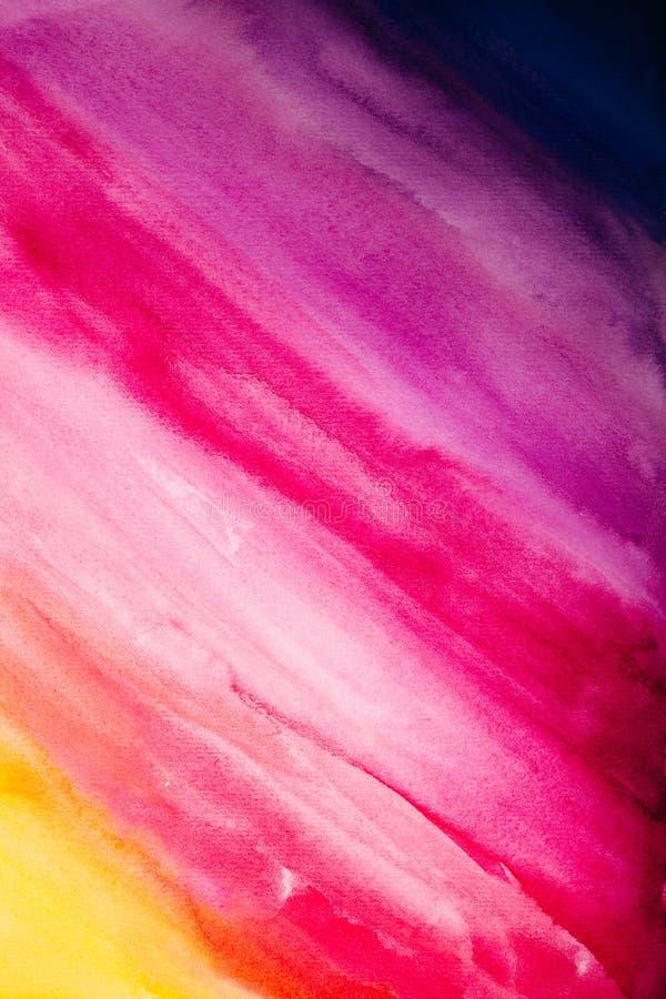 Ζωηρόχρωμο υπόβαθρο watercolor των διαγώνιων κτυπημάτων βουρτσών στοκ φωτογραφία με δικαίωμα ελεύθερης χρήσης