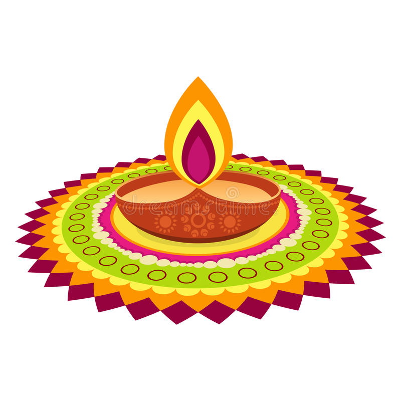 Ζωηρόχρωμο φεστιβάλ diwali απεικόνιση αποθεμάτων