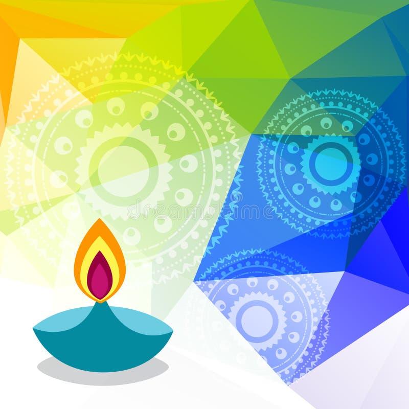Ζωηρόχρωμο φεστιβάλ diwali διανυσματική απεικόνιση