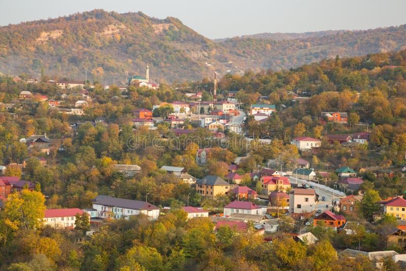 Ζωηρόχρωμο φθινόπωρο στα βουνά στοκ εικόνες με δικαίωμα ελεύθερης χρήσης