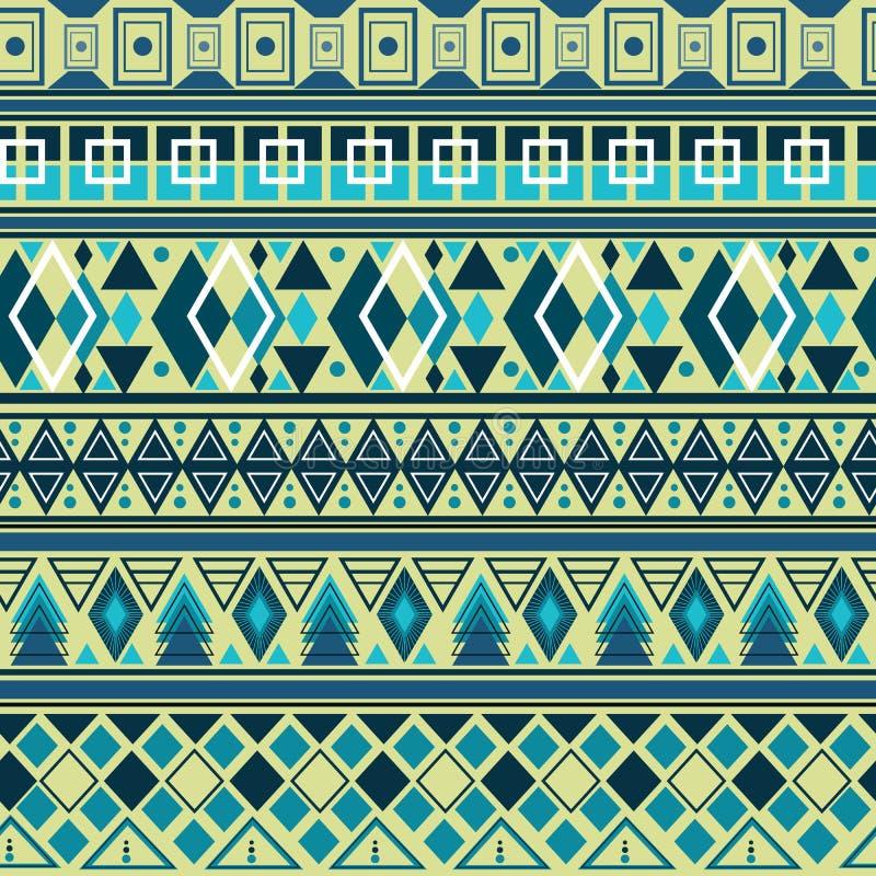 Ζωηρόχρωμο φυλετικό γεωμετρικό των Αζτέκων άνευ ραφής σχέδιο ελεύθερη απεικόνιση δικαιώματος