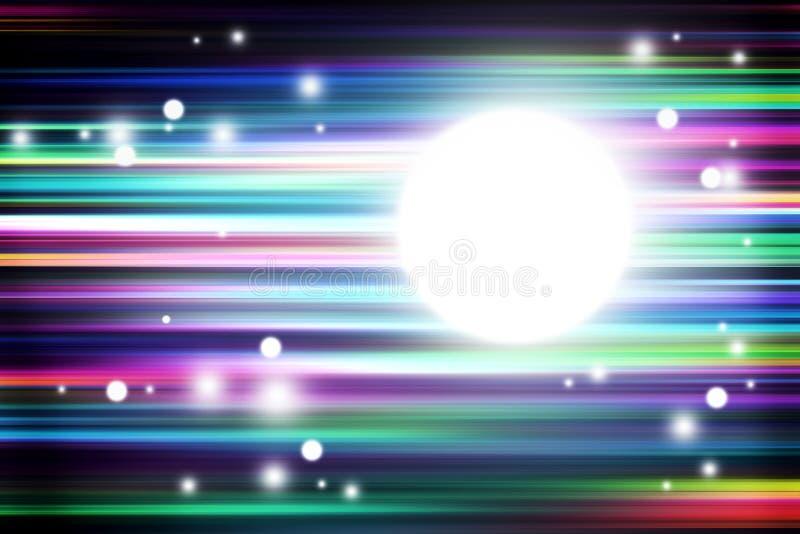 Ζωηρόχρωμο φως και λωρίδες που κινούν το γρήγορο υπόβαθρο απεικόνιση αποθεμάτων