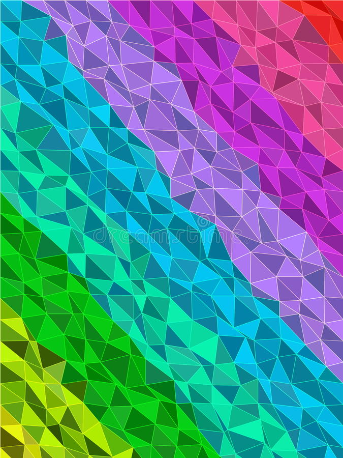 Ζωηρόχρωμο λωρίδα στο σχέδιο τριγώνων με τη σύσταση γραμμών ελεύθερη απεικόνιση δικαιώματος
