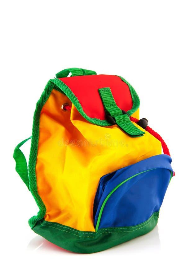 Ζωηρόχρωμο backpack στοκ εικόνες