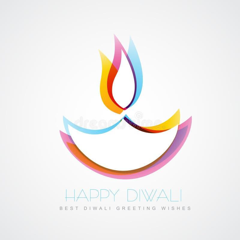 Ζωηρόχρωμο diya diwali διανυσματική απεικόνιση
