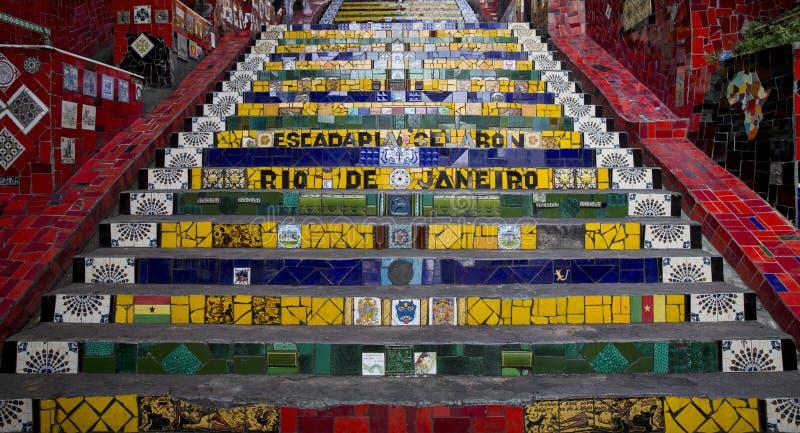 Ζωηρόχρωμο Escadaria Selaron στο Ρίο ντε Τζανέιρο στοκ φωτογραφίες