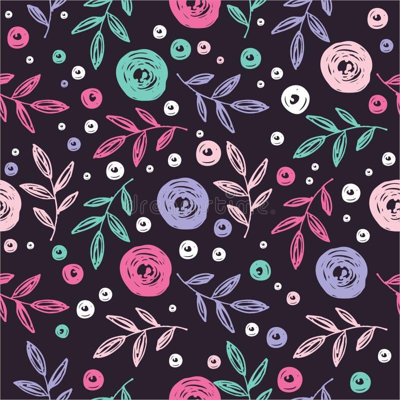 Ζωηρόχρωμο floral γραφικό σχέδιο σχεδίων στοκ εικόνα
