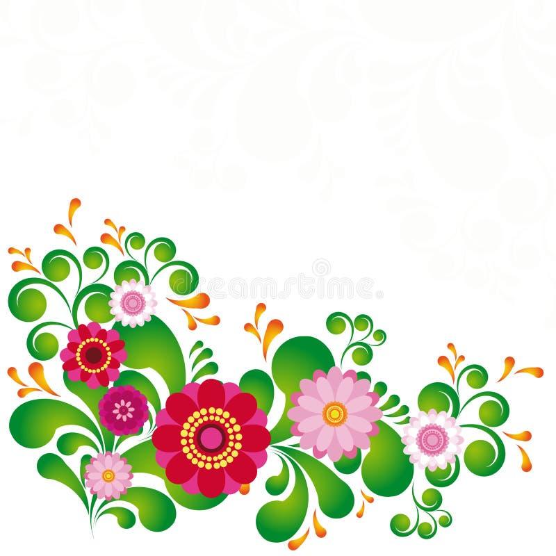 ζωηρόχρωμο floral λουλούδι α&n διανυσματική απεικόνιση
