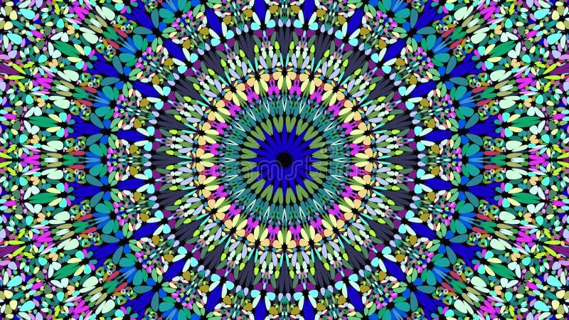 Ζωηρόχρωμο floral περίκομψο υπόβαθρο mandala - εθνικός διανυσματικός γραφικός απεικόνιση αποθεμάτων