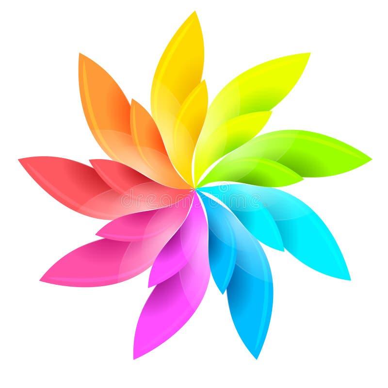 Ζωηρόχρωμο floral σημάδι ελεύθερη απεικόνιση δικαιώματος