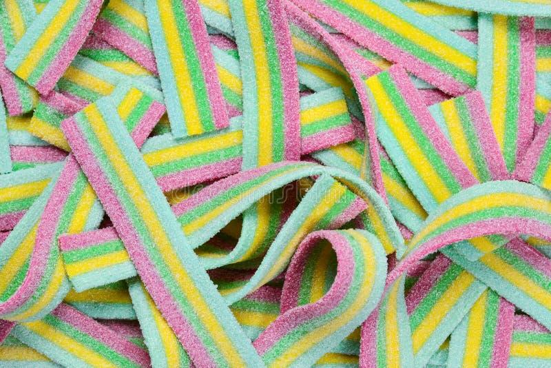 Ζωηρόχρωμο juicy gummy υπόβαθρο καραμελών r Γλυκά ζελατίνας στοκ φωτογραφία με δικαίωμα ελεύθερης χρήσης