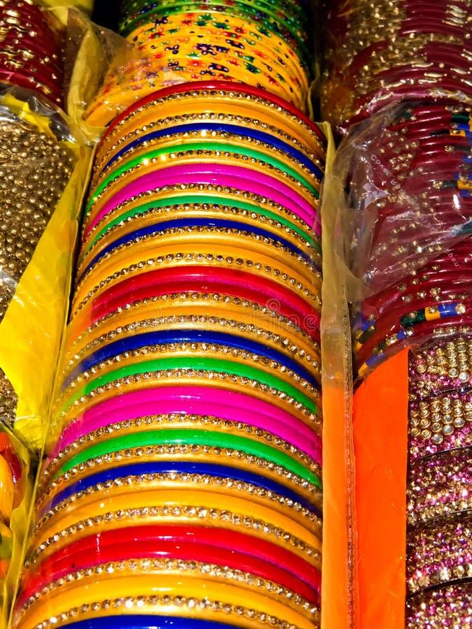 Ζωηρόχρωμο Lakh βραχιόλι-Ινδία στοκ φωτογραφίες