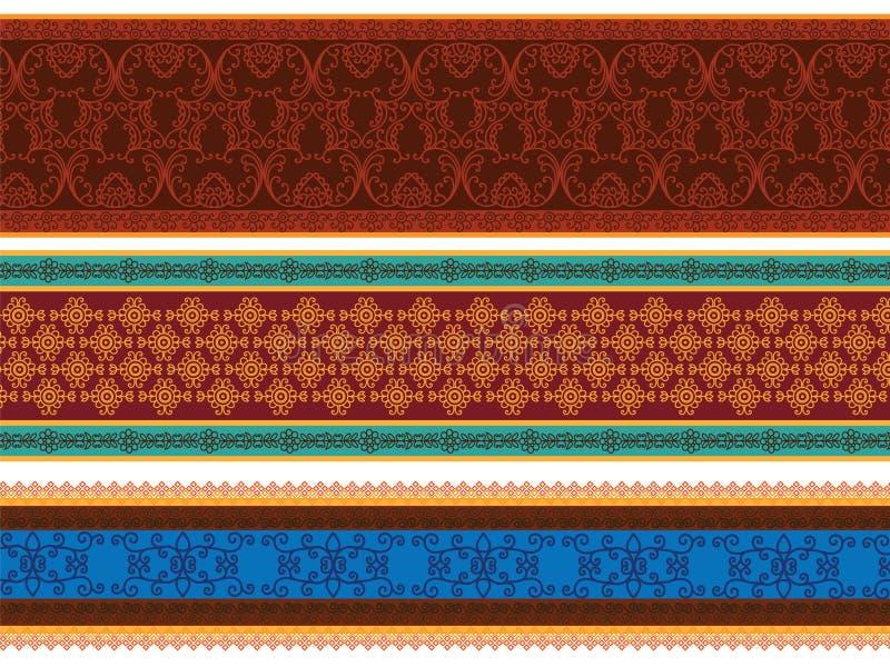 ζωηρόχρωμο mandala συνόρων εμβλ&e διανυσματική απεικόνιση